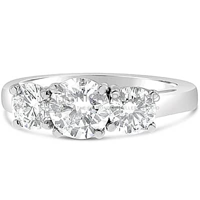 TDR1/ TRIPLEEX H&A™ 3 STONE ENGAGEMENT RING