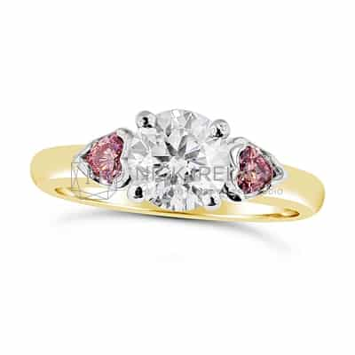 DJSP3/ ARGYLE PINK AND WHITE DIAMOND ENGAGEMENT RING