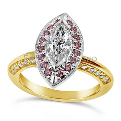 DJSP17/ 18CT MARQUISE DIAMOND ENGAGEMENT RING