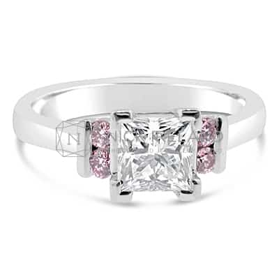 DJSP29/ PLATINUM ARGYLE PINK ENGAGEMENT RING