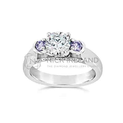 DJSP/39 ARGYLE BLUE VIOLET DIAMOND 3 STONE