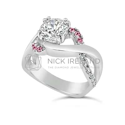 DJSP/42 PLATINUM DIAMOND ENGAGEMENT RING WITH ARGYLE PINKS