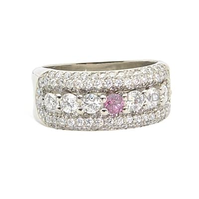 DJSP52/ PLATINUM ARGYLE VIVID PINK DIAMOND RING