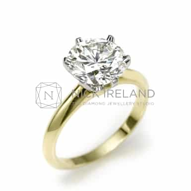 TDR47/ 18CT GOLD 2CT DIAMOND SOLITAIRE