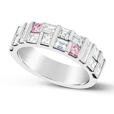 DJSP60/Platinum Argyle Pink Diamond Wedding Ring