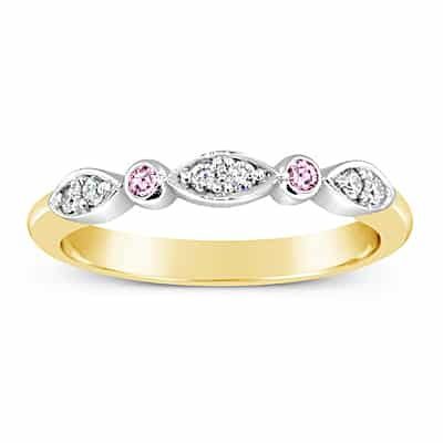 DJSP64/18ct Argyle Pink Diamond Wedding Ring