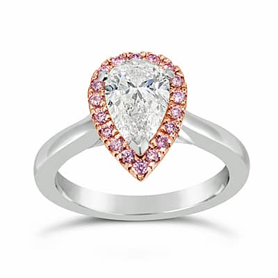 DJSP66/Platinum Argyle Pink Diamond Halo Ring