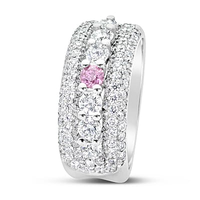 DJSP67/Argyle Pink Diamond Dress Ring