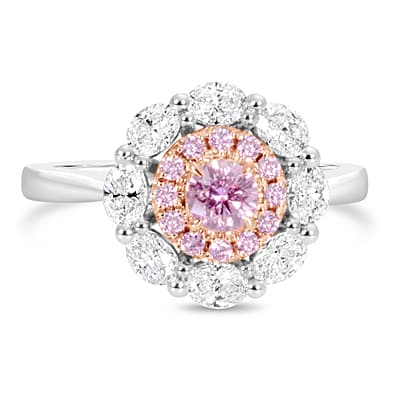 DJSP68/Argyle Pink Diamond Cluster Ring