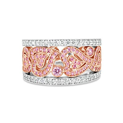 DJSP70/18ct White and Rose Gold Argyle Pink Diamond Ring
